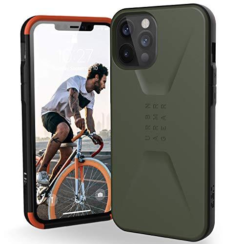 "Preisvergleich Produktbild Urban Armor Gear Civilian Hülle Apple iPhone 12 Pro Max (6, 7"" Zoll) Schutzhülle (Wireless Charging kompatibles Cover,  Sturzfeste Handyhülle,  Ultra Slim Bumper) - Olive"