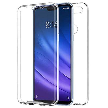 "TBOC Funda para Xiaomi Mi 8 Lite - Mi8 Lite [6.26""] - Carcasa [Transparente] Completa [Silicona TPU] Doble Cara [360 Grados] Protección Integral Total Delantera Trasera Lateral Móvil Resistente Golpes"