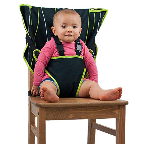 The Original Easy Seat Portable High Chair (Black) - Quick, Easy, Convenient Cloth...