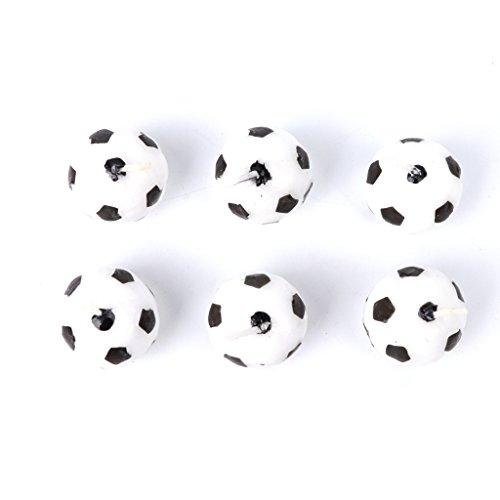 BELTI 6 Pezzi/Set Candele Calcio Pallone da Calcio per la Decorazione di Forniture per Bambini Festa di Compleanno