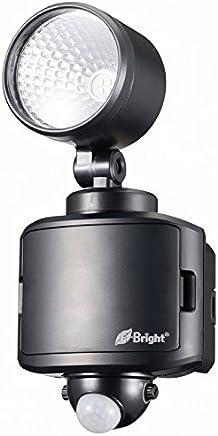 オーム電機 センサーライト ブラック サイズ:13.8×12×24cm