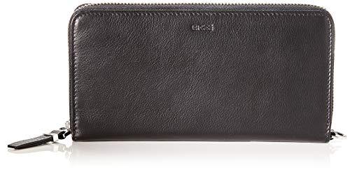 BREE Collection Damen Lynn 163, Zipped Long Purse Geldbörse, Schwarz (Black), 2.5x10x19.5 cm