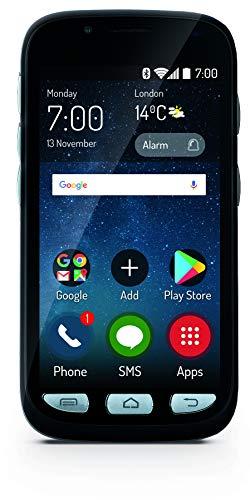 MaxCom Mobiltelefon Seniorenhandy Touchscreen mit Notruf-Knopf Ladestation Bluetooth 4, 5 Zoll Display 8MP Kamera FM Radio und Taschenlampe Schwarz MS459 3G