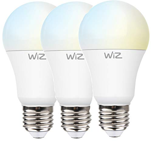 WiZ G2 WarmWhite A60 E27 - Bombillas LED (3 unidades, intensidad regulable, WLAN, 9 W - 60 W, 2700 K, lm810, control por voz Alexa, Siri, Google & IFTTT)