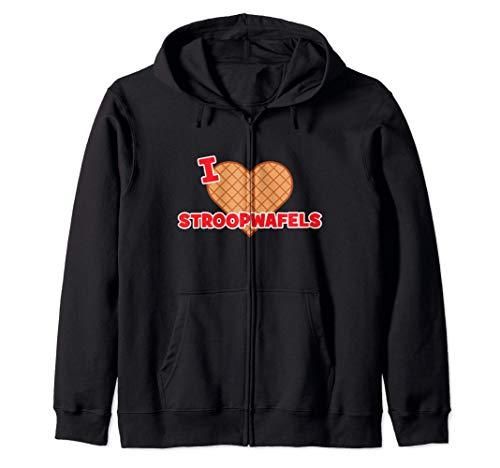 I Love Stroopwafels | Holland Sudadera con Capucha