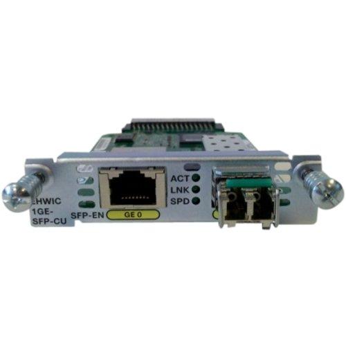 Cisco High-Speed WAN Interface Card - 1 x 10/100/1000Base-T LAN - 1 x SFP (mini-GBIC) - EHWIC-1GE-SFP-CU