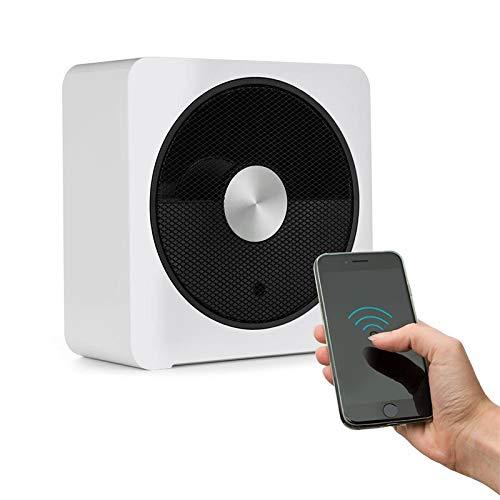 Klarstein HeatPal Bloxx Calefacción eléctrica - Estufa, 2500 W, Control vía App por módulo WiFi, Temporizador, Apagado, Control de Temperatura, Filtro, Blanco