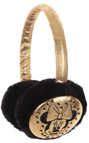 Ohrenschützer für Kinder, Mädchen, Motiv: Minnie Disney, goldfarben, silberfarben und schwarz, Einheitsgröße Gr. One size, Gold/Schwarz.