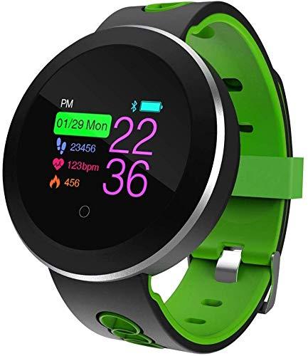 Intelligente armband, IP68 waterdicht, stappenteller, hartslagdruk, multisportmodus, push-informatie.