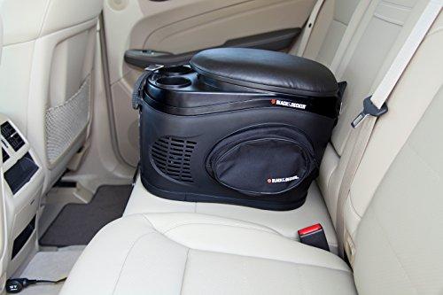BLACK+DECKER TC212B Portable Travel Cooler/Warmer with 12V DC Power Adaptor: 12 Can, 2.3 Gallon Capacity
