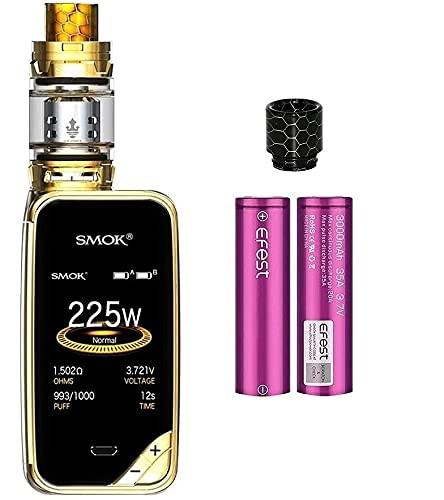 SMOK X-PRIV Kit 225W E Sigaretta Elettronica Kit Completo Vape TC Box Mod con Top Refill TFV12 Prince Tank Atomizzatore 0.4ohm Resistenza Senza Nicotina Tabacco Liquido (prisma d'oro)
