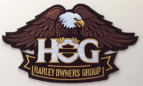 Generischer großer Aufnäher mit Adler Hog Harley Davidson Modell Neu