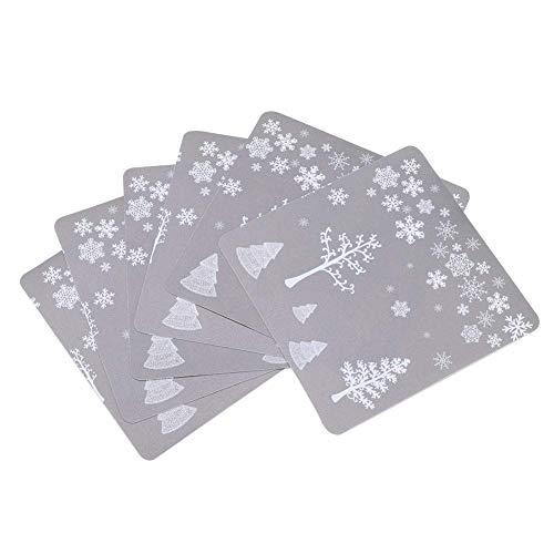 JYCTD 12 Uds manteles Individuales para Tazas de Cocina, Mesa de Comedor, Posavasos navideños, tapetes aislantes, decoración