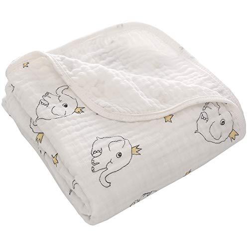 Miracle Baby Mantas Bebe Algodón, Swaddle Blanket Muselina 109% Algodón, Arrullo para Bebe,Baño De Envolver Para Recién Nacido Dos Capas