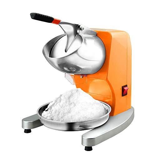 CONRAL Elektrische Eiscrusher Rasierer Schneekegelmaschine, Edelstahlklinge, Präfekt für EIS, kalte Getränke, Obstdessert und Cocktailparty und Heimparty, 95Kg / Stunde