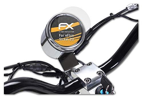 atFoliX Protecteur d'écran Compatible avec eFlux Street 20 Film Protection d'écran, antiréfléchissant et Absorbant Les Chocs FX Film Protecteur (2X)