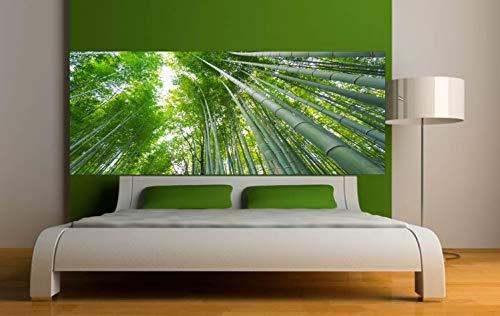 Pegatinas para cabecero de cama de bambú, 160 x 62 cm