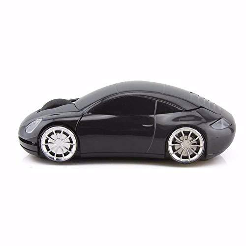 EHCNMSB 2,4 G Kreative Maus Porsche Modell Wireless Auto Maus männliche und Weibliche allgemeine Persönlichkeit Maus, Schwarz Rot