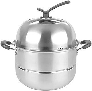 MKOIJN Vaporera Acero Inoxidable Vapor Pan Set for cocinar Vapor del Acero Inoxidable Olla inducción Cocina de Gas Universal Stock Pot 26cm (Size : 26cm)