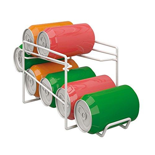 Metaltex Dispensador para Botes, Blanco, Metal