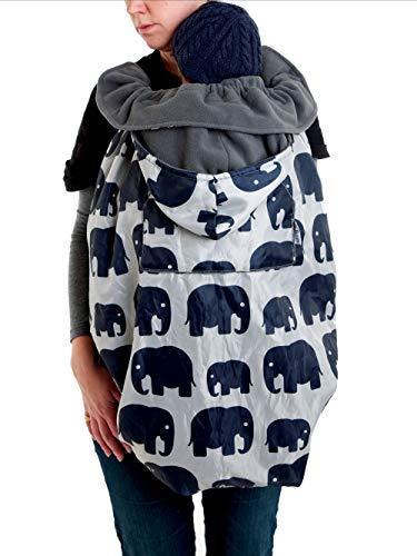 BundleBean babykläder: Vattentät Sling och bärfodral Grey Elephant