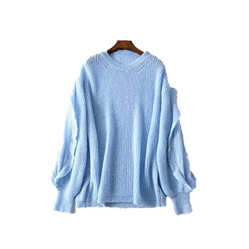 Camiseta de Manga Larga para Mujer Sudadera de Manga Larga Blusas Casuales de Color sólido Tops Suéter...