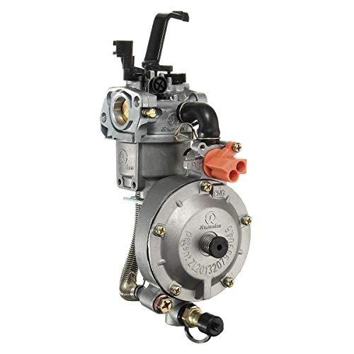 Motorfiets Dubbele Brandstof Carburateur Koolstofvezel, Voor Waterpomp Generator Motor 170F GX200 Motorfiets onderdelen te koop