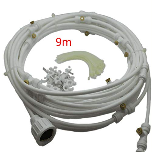 Bingxue Juego de rociadores de Baja presión de Agua del Grifo de jardín de 6/9/12 m, Sistema de atomización, Equipo de riego de riego de Invernadero de nebulización de enfriamiento de Patio