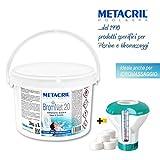 Metacril Bromo en Pastillas de 20 g – BromNet 20 kg 3 + dosificador Flotante con termómetro. Ideal para Piscina y SPA hidromasaje (Teuco, Jacuzzi, Dimhora, Intex,Bestway, ECC).