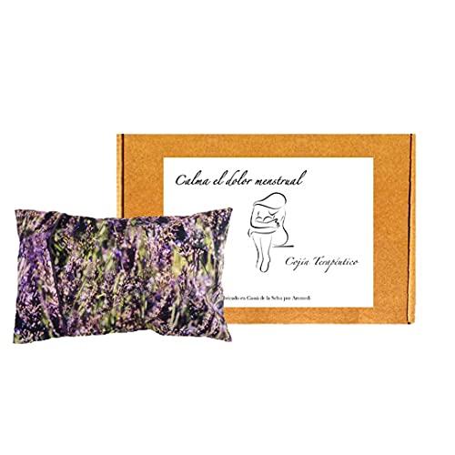 Mikrowellen-Wärmekissen mit waschbarem Bezug, 100 % Baumwolle mit natürlichem Lavendel und Weizen, Wärmekissen mit Samen zur Linderung von Menstruations- und Kolikschmerzen (30 x 20 cm) (Lavendel)