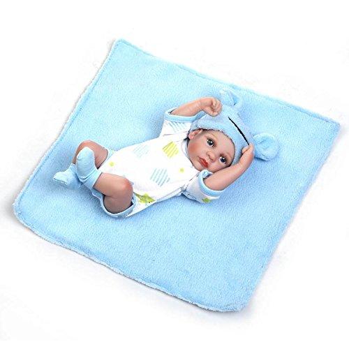 Pinky Reborn Mini 10 Pulgadas 26cm Lindo Muñecos Niño Bebé el Cuerpo Completo Silicona Suave Vinilo Renacer Bebé Mejor Regalo Paran Niños Juguete