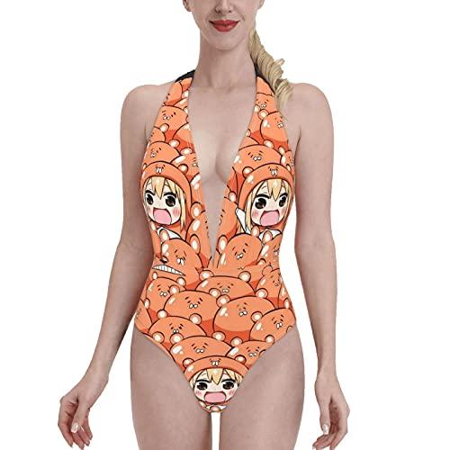 Himouto! Umaru-chan Women One Piece Swimsuits Stylish Bikini Padded Bra Beach Swimwear Backless Monokini
