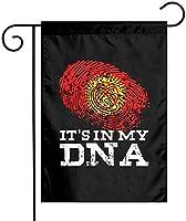 その私のDNAキルギスタンの旗ガーデンフラッグ12x18両面ファーム芝生屋外装飾ガーデンバナー