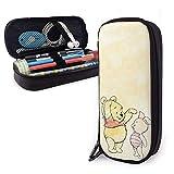 Winnie The Pooh ha coltivato astuccio per matite di grande capacità Custodia in pelle per astuccio Borsa per cancelleria con cerniera Custodia per matita