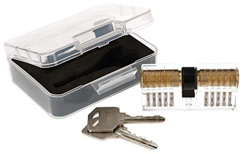 KOTARBAU® Lockpicking Set Transparenter Profilzylinder Trainingsschloss Übungsschloss zum Üben von Notöffnen von Schlössern