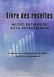 Livre des recettes Micro-Entreprise, Auto-Entrepreneur: Livre Journal des Recettes-Dépenses auto-entrepreneurs, micro-entr...