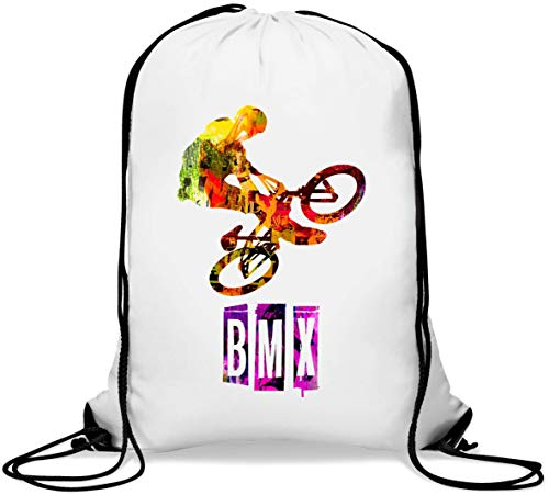 BMX Extreme Sport Bike Tricks Mochila con cordón Informal Gym Sack
