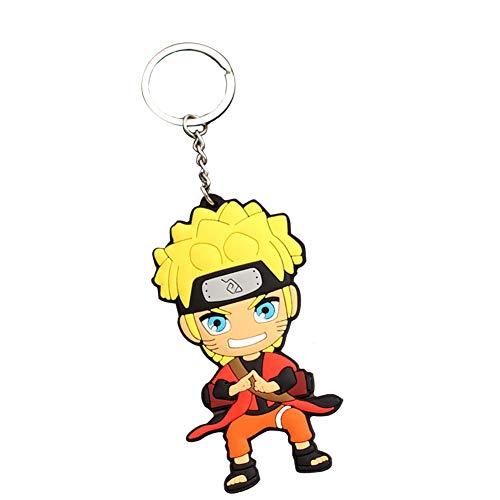 SGOT Naruto Schlüsselanhänger, Weicher Kleber Anhänger, Naruto Keychain, Uzumaki Naruto Uchiha Hatake Kakashi Keyring für Anime Lovers -C( H06)