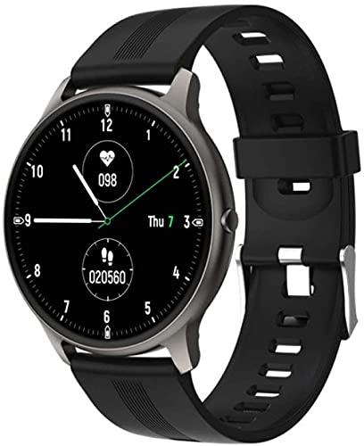 Reloj inteligente Regalos Deportivos Bluetooth Pulsera Inteligente Presión Arterial Monitoreo de Ritmo Cardíaco Peatonal Actividad-Negro