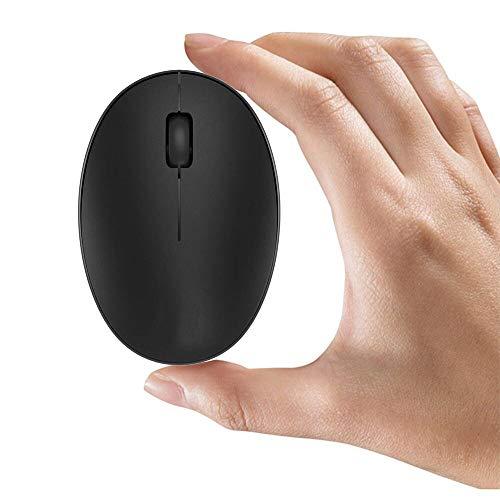 Tenmos mini piccolo ricaricabile computer mouse senza fili, 2.4 GHz viaggio silenzioso mouse ottico con ricevitore USB, auto sleep, 3 pulsanti, 1000 dpi per laptop/PC