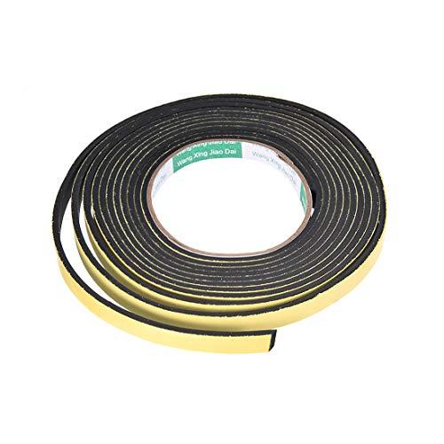 uxcell EVAシーリングフォームテープ EVAフォームストリップシール 耐衝撃スポンジフォームテープ 10mm幅 3 mm厚 4 M長 窓断熱材用