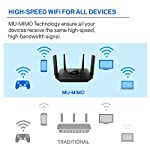 Linksys tri-band wifi router for home (max-stream ac2200 mu-mimo fast wireless router), black 17 provides up to 1,500 square feet of wi-fi coverage for 15+ wireless devices works with existing modem, simple setup through linksys app enjoy 4k hd streaming, gaming and more in high quality without buffering