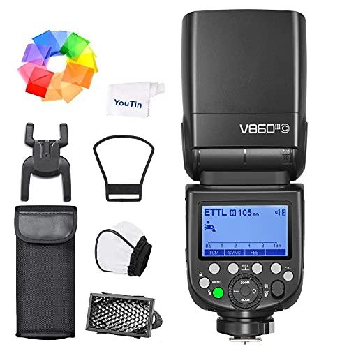 GODOX V860III-C 2.4G Flash senza fili TTL -Shoe, flash per fotocamera Speedlite compatibile con Canon 6D 50D 60D 1DX 580EX II 5D Mark II III