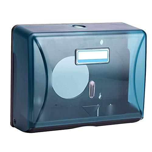 YYWJ - Dispenser per asciugamani di carta, con supporto a parete, in ABS, pieghevole a C o singolo piegato, per bagno, cucina, ristorante, ufficio