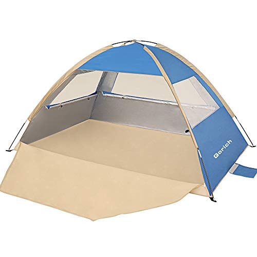 Gorich Beach Tent,UV Sun Shelter Lightweight Beach Sun Shade Canopy Cabana Beach Tents Fit 3-4 Person (Dark Blue)