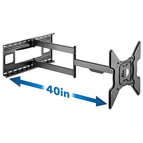 Mount-It! Soporte de pared para TV de brazo largo   Extensión de 40 pulgadas de ángulo de movimiento completo   Ajuste universal para...
