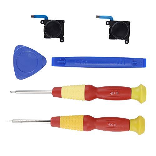 Socobeta Herramienta de Apertura Joystick Destornilladores Kit de Repuesto Analógico Thumb Stick Analógico 3D para Controlador de Interruptor