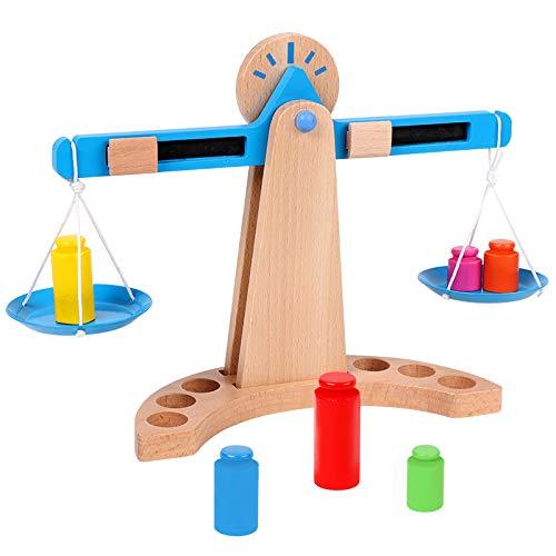 Kinderen houten weegschaal speelgoed hoeveelheid optellen en aftrekken wiskunde speelgoed vroege intelligentie ontwikkeling cadeauset