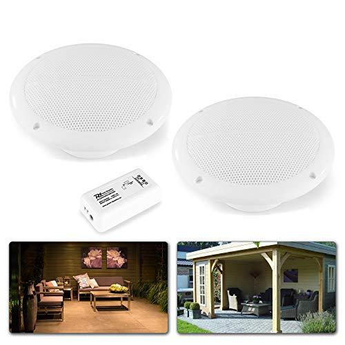 Buitenspeakers Bluetooth BT10SET inbouwset voor tuin, terras en overkapping van Power Dynamics