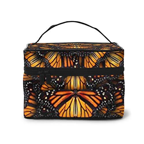 Monarch Butterflies1 Bolsas de cosméticos de Viaje Bolsa de Maquillaje con Bolsa de Cepillo